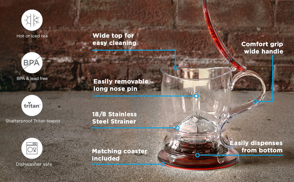 GROSCHE aberdeen easy tea steeper product features