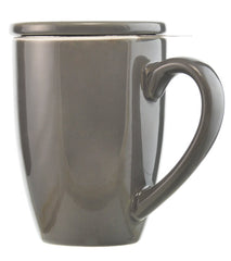 Infuser Tea Mug: GROSCHE Kassel - Grey, 330ml/11.2 fl. oz - Package of 4