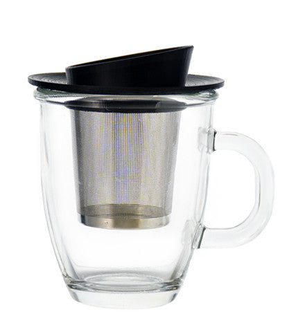 Infuser Tea Mug: Grosche Aspen - 400Ml/13.5 Fl. Oz - Package Of 2 - Infuser Tea Mug