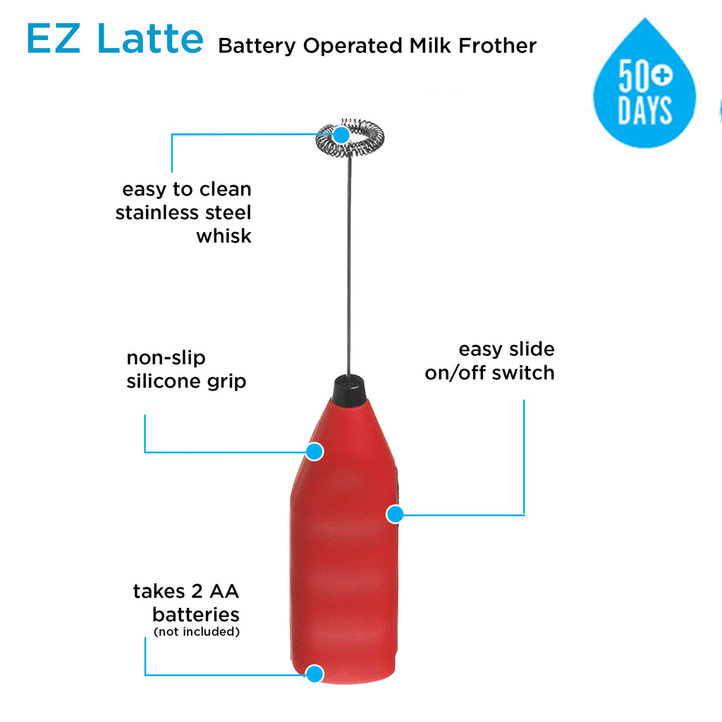Milk Frother: E-Z Latte - Red - Package of 4