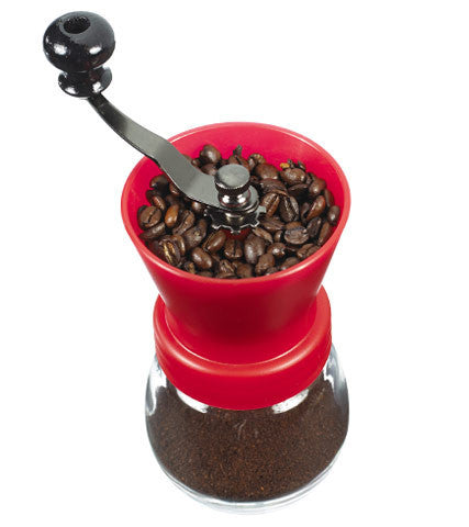 Coffee Grinder: Grosche Bremen Ceramic Burr Coffee Grinder - Red 100G Capacity - Package Of 2 - Coffee Grinder