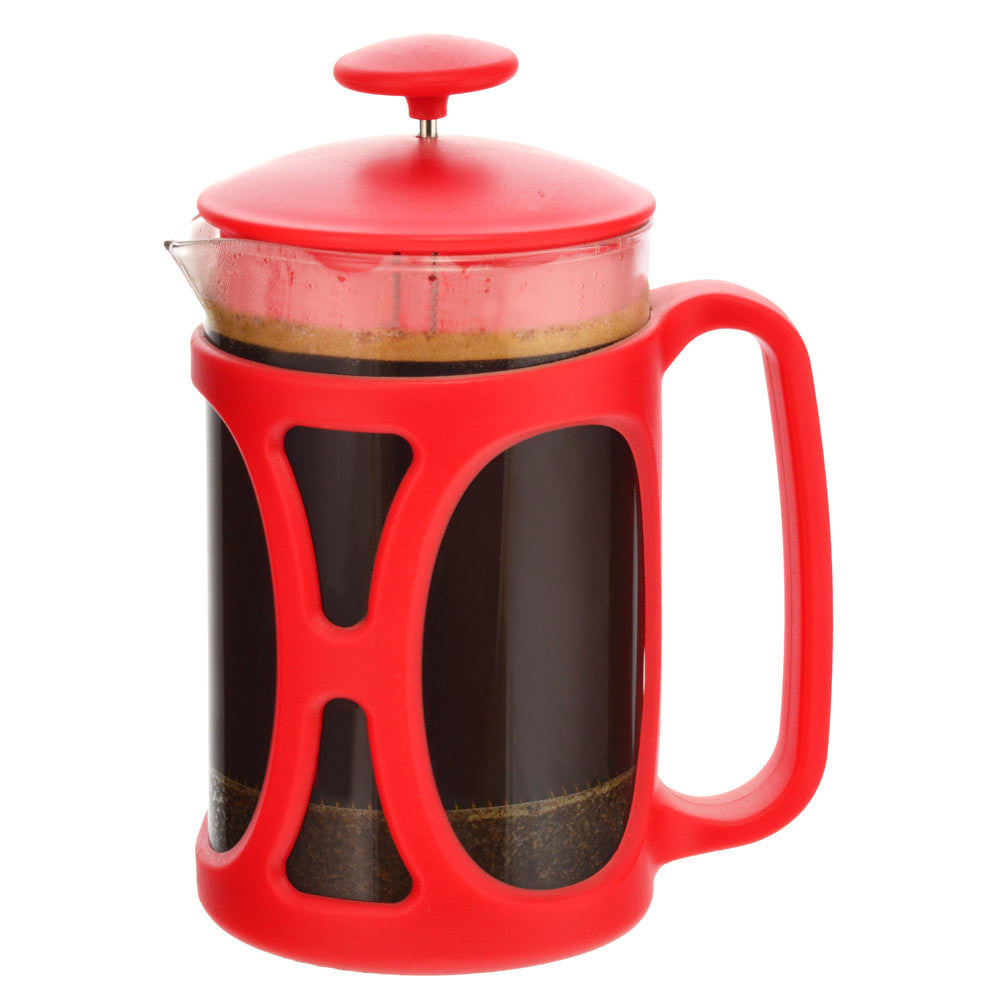 GROSCHE BASEL Small French Press | Red 800ml
