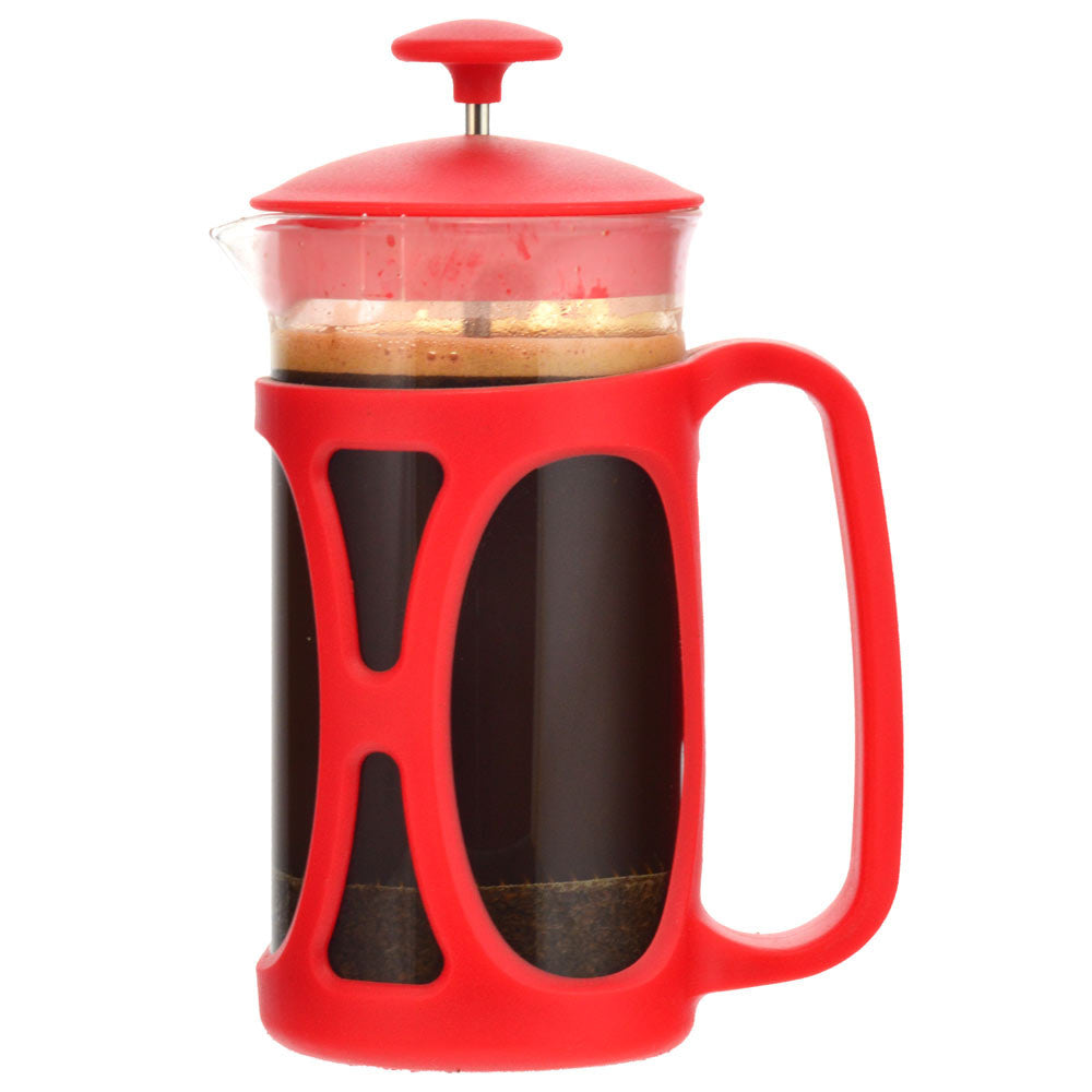French Press: Basel Red | 350 Ml | Pack Of 4 - French Press