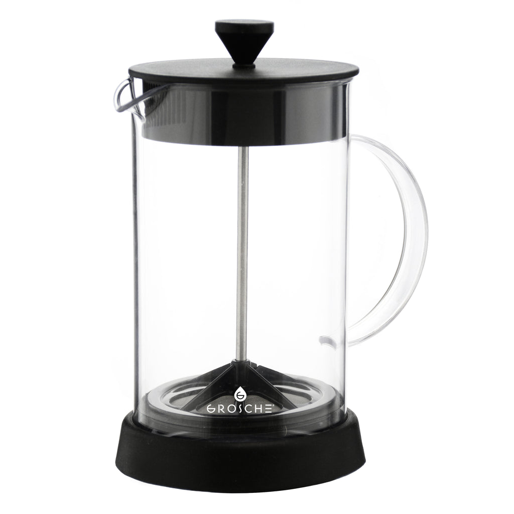 French Press: GROSCHE Brooklyn - 1000ml, 34 fl. oz, 8 cup, with Tritan plastic beaker - Package of 4