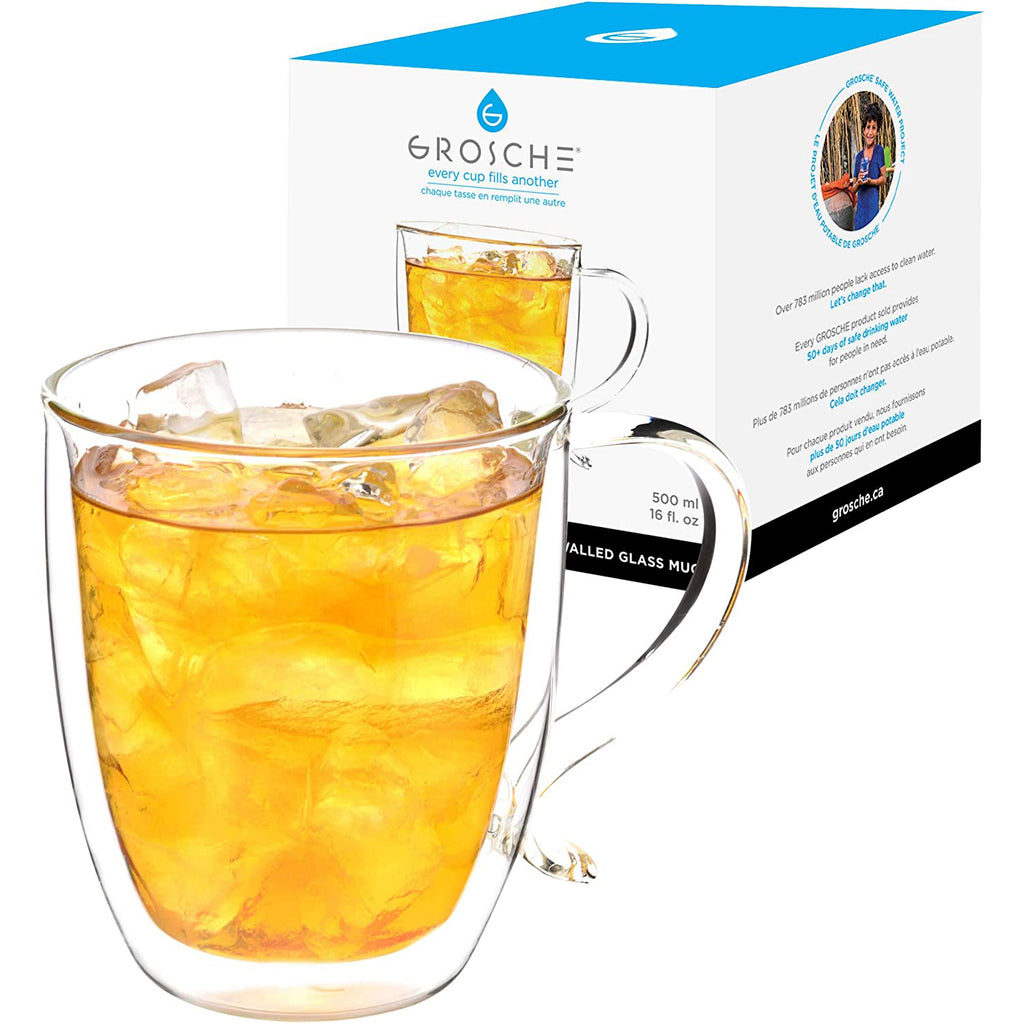 Glassware: Double Walled Cyprus Mug - 500ml/16 fl oz. - Package of 4