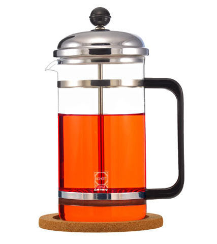 French Press: GROSCHE Denver with cork base - 1000ml/34 fl. oz - Package of 2