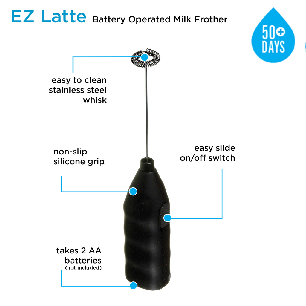 Milk Frother: E-Z Latte - Black - Package of 4