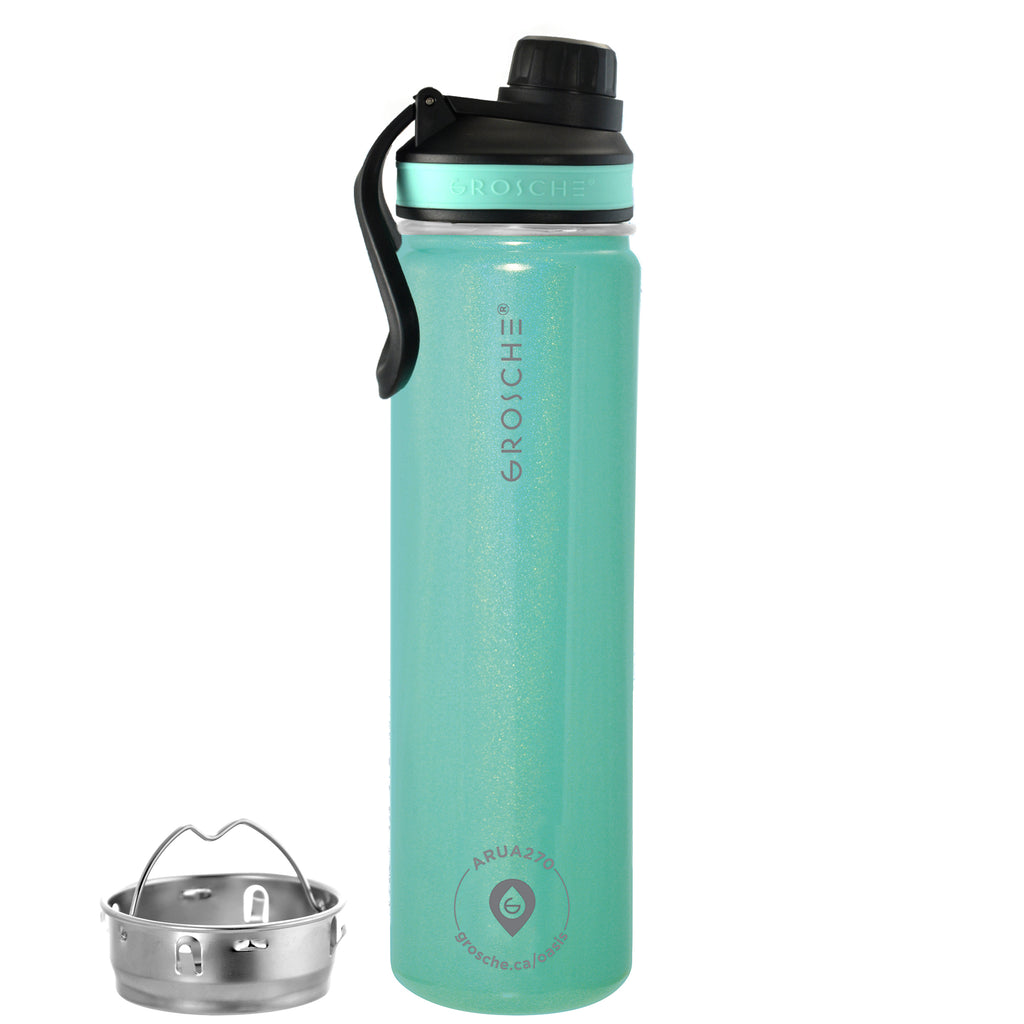 OASIS Fruit Infuser Water Bottle (Aquamarine) - 650 ml/22 fl. oz - Pack of 4