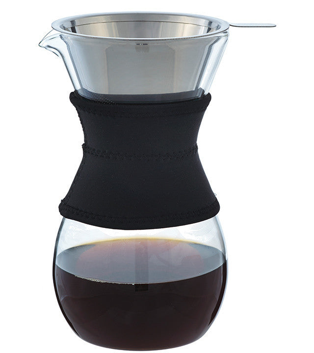Coffee Dripper: Grosche Austin Pour Over Coffee Maker - Black Sleeve 600Ml/20 Fl. Oz - Package Of 4 - Accessory