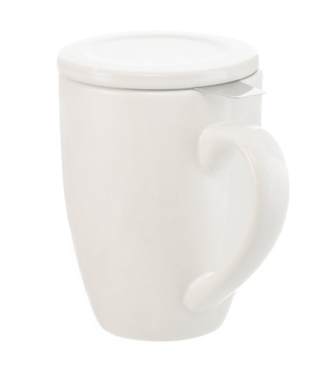 Infuser Tea Mug: Grosche Kassel - White 330Ml/11.2 Fl. Oz - Package Of 4