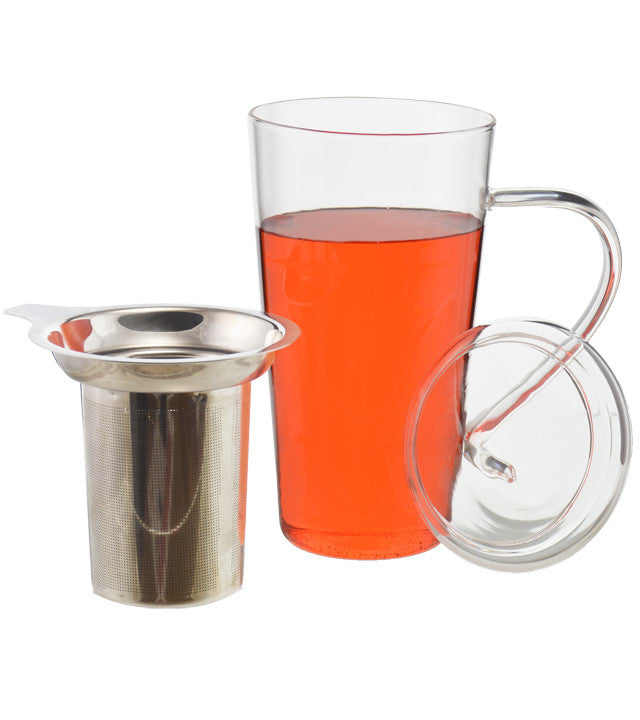 Infuser Tea Mug: Grosche Marbella - 500Ml/17 Fl. Oz - Package Of 2 - Infuser Tea Mug