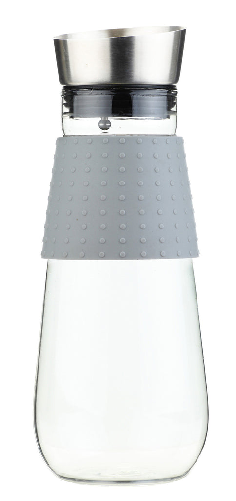 Water Pitcher & Fruit Infuser: Grosche Maui - Grey 1000Ml/34 Fl. Oz - Package Of 4 - Accessory