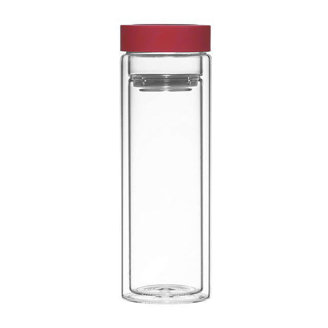 Fruit & Tea Infuser: Montréal - Red 400Ml/13.5 Fl. Oz - Package Of 4 - Water Infuser