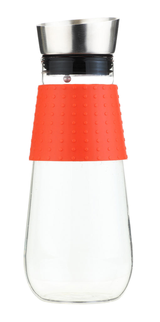Water Pitcher & Fruit Infuser: Grosche Maui - Orange 1000Ml/34 Fl. Oz - Package Of 4 - Accessory
