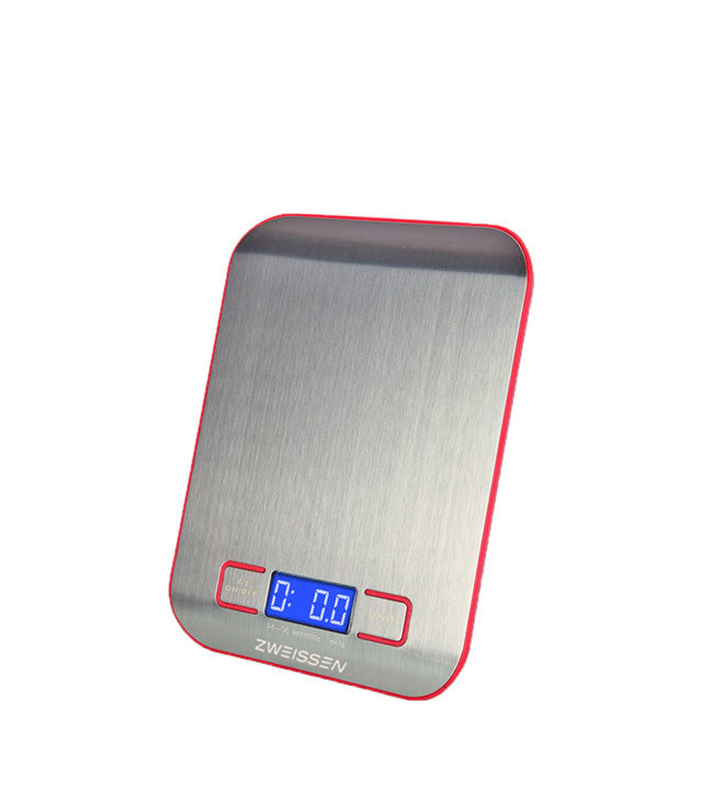 Digital Scale: Zweissen Aprilia - Red 11Lb Capacity - Package Of 4 - Digital Kitchen Scale