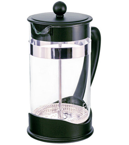 French Press: Grosche Dresden - 1000Ml 34 Fl. Oz 8 Cup German Schott Glass Eco-Friendly 50% Recycled Plastic- Package Of 4 - French Press