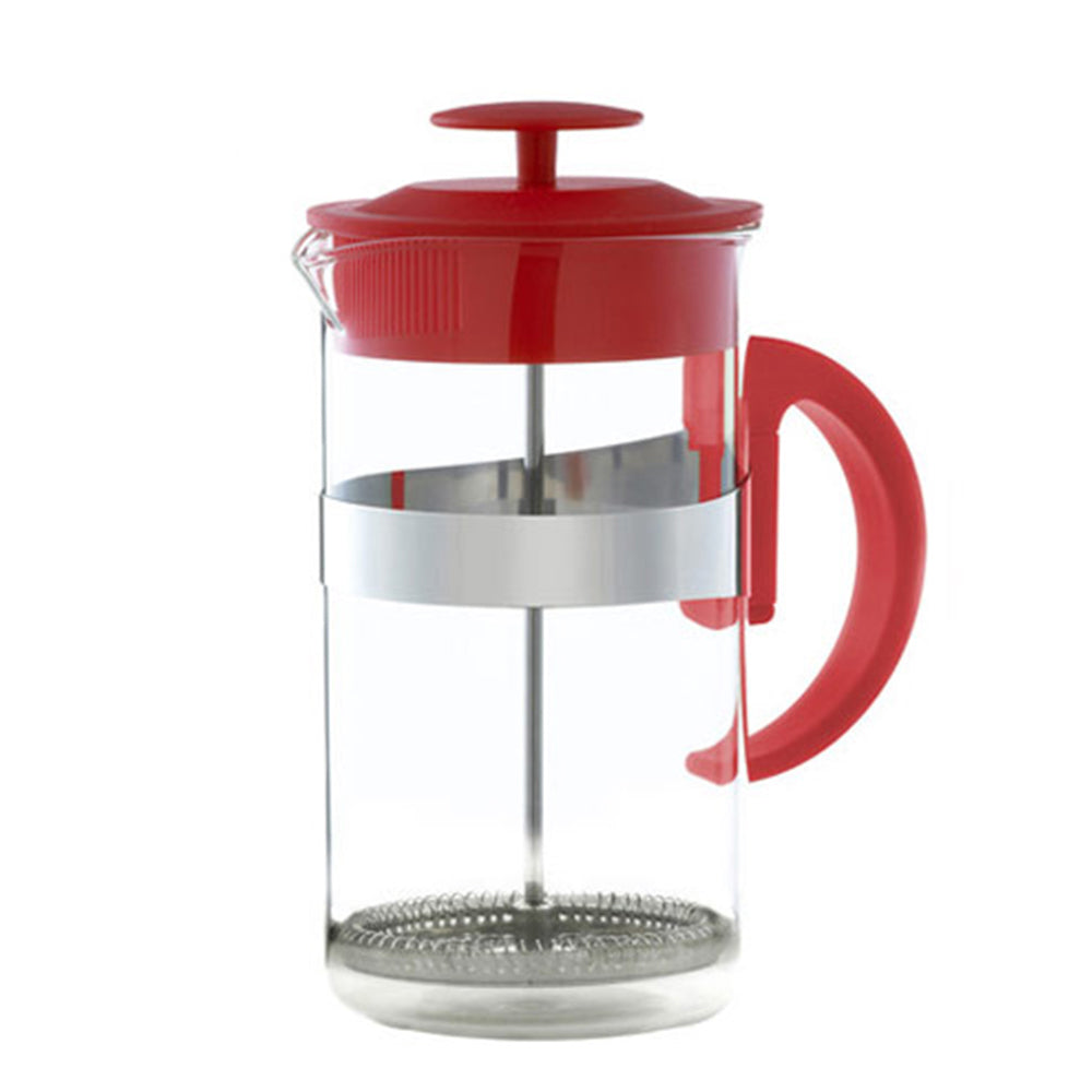French Press: KAFFE MAESTRO Barista – Red, 8 cup size, Package of 4