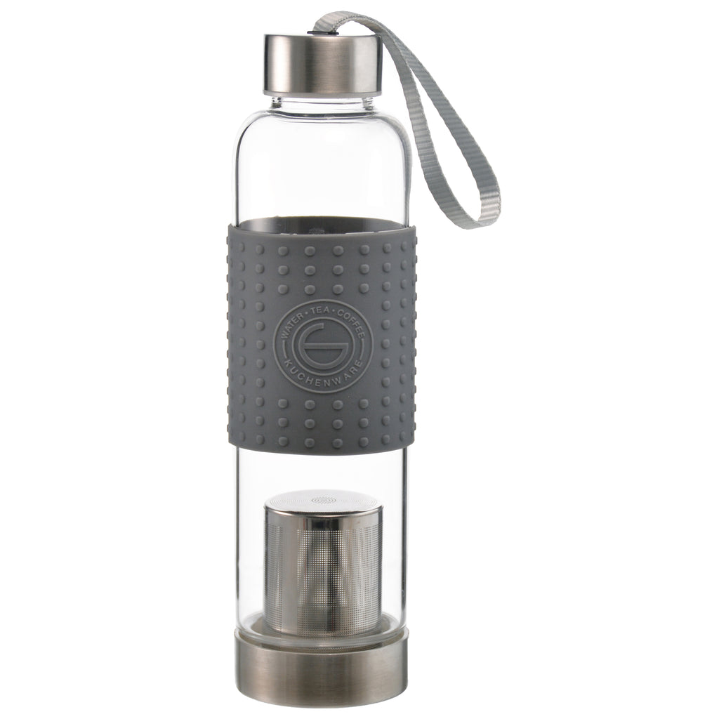 Fruit & Tea Infuser: Grosche Marino - Grey 550Ml/18.6 Fl. Oz - Package Of 4 - Water Infuser