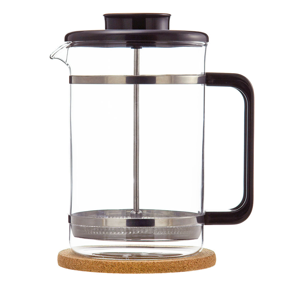 French Press: GROSCHE Mombasa with cork base - 1500ml/51 fl. oz - Package of 2
