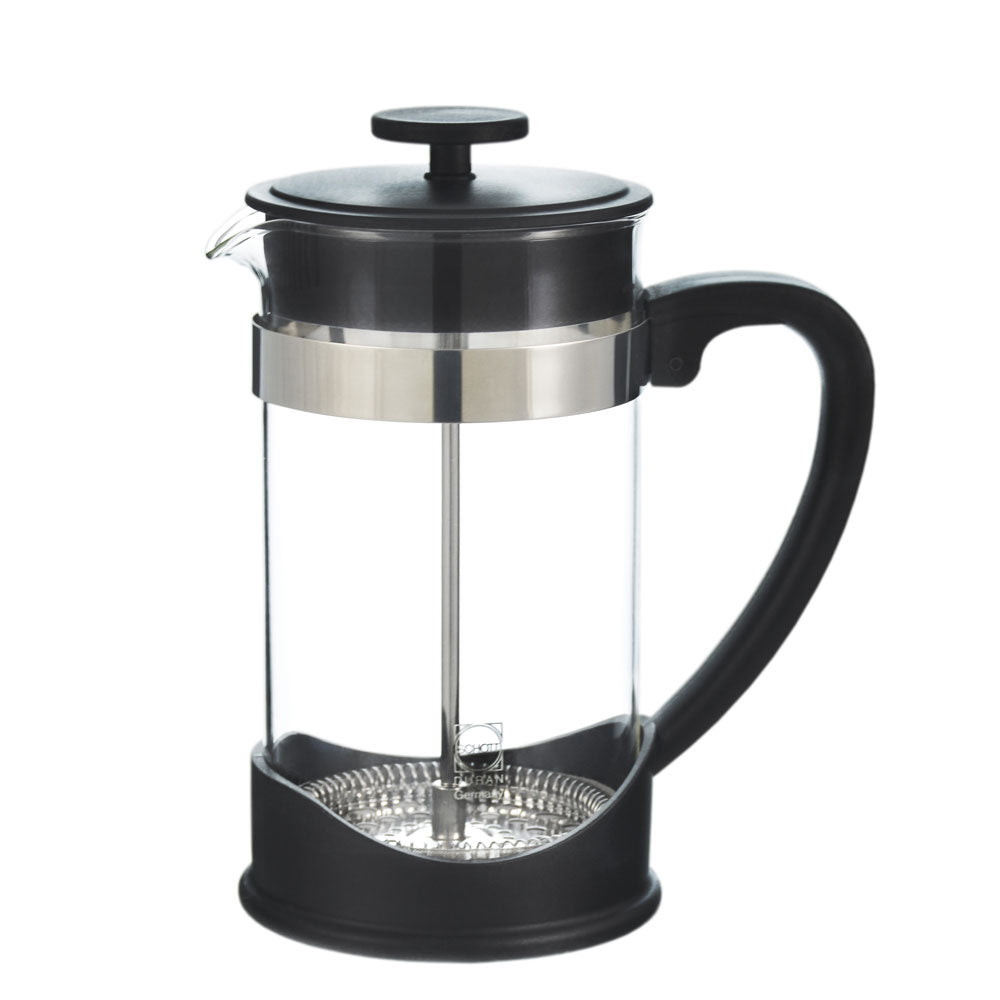 French Press: GROSCHE Dresden - 1000ml, 34 fl. oz, 8 cup, German SCHOTT glass, Eco-Friendly, 50% Recycled plastic- Package of 4