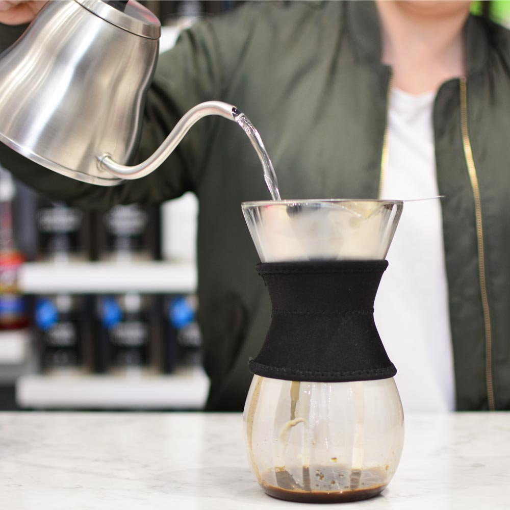 Coffee Dripper: GROSCHE Austin Pour Over Coffee Maker - Black Sleeve, 600ml/20 fl. oz - Package of 4