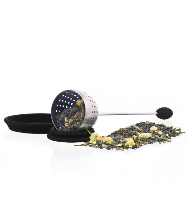 Tea Infuser: Grosche Tulip Infuser - Black - Package Of 4 - Accessory