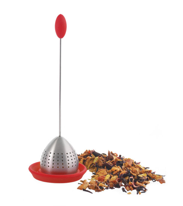 Tea Infuser: Grosche Tulip Infuser - Red - Package Of 4 - Accessory