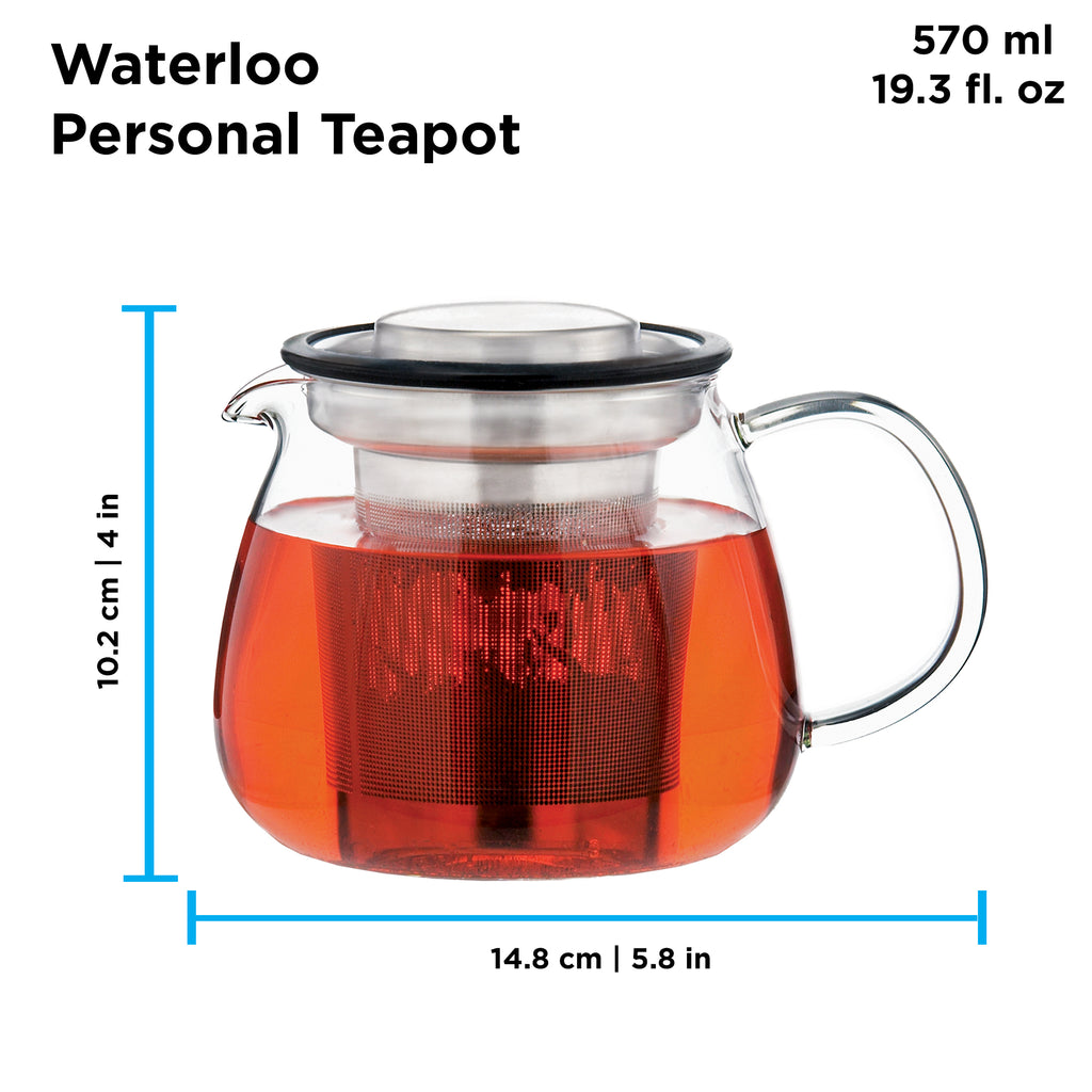 Infuser Teapot: GROSCHE Waterloo - 600ml/20.3 fl. oz - Package of 4