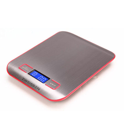 Digital Scale: ZWEISSEN Aprilia - Red, 11lb capacity - Package of 4