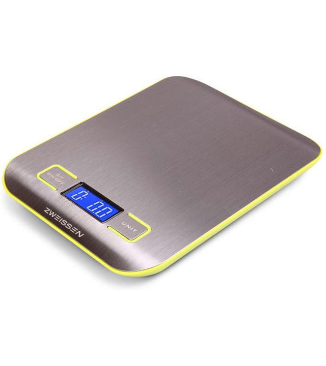 Digital Scale: ZWEISSEN Aprilia - Green, 11lb capacity - Package of 4