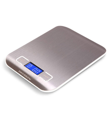 Digital Scale: ZWEISSEN Aprilia - White, 11lb capacity - Package of 4