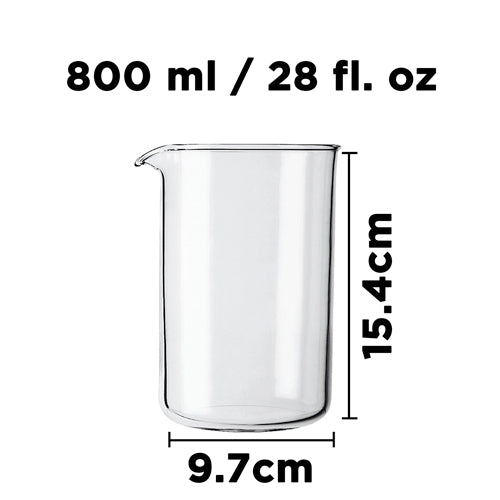 Parts & Accessories: Replacement Beaker - 800ml/28 fl. oz - Package of 4