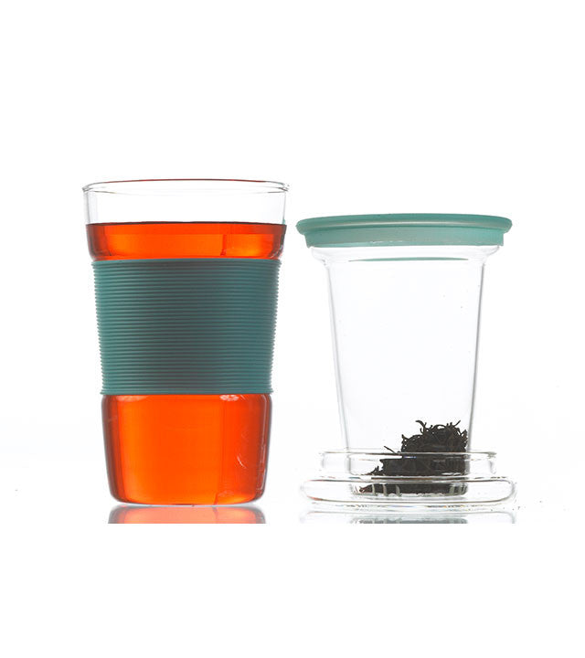 Infuser Tea Mug: Infuz - Blue 350Ml/11.8 Fl. Oz - Package Of 4 - Infuser Tea Mug