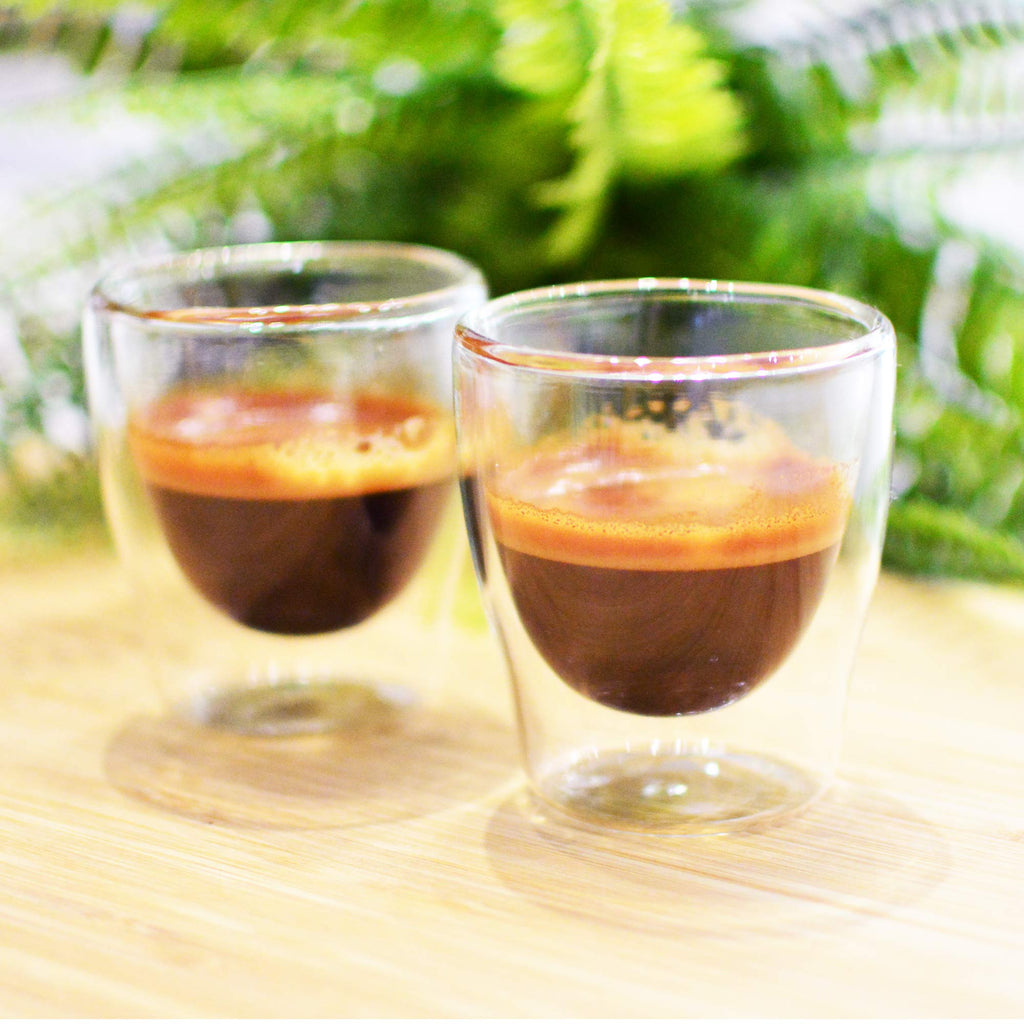 Glassware: GROSCHE Double Walled Espresso Turino Cup, 70ml/2.4 fl. oz - Pkg. of 4 sets