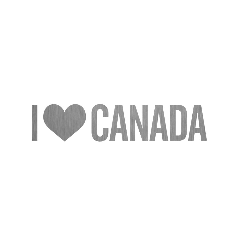 CHICAGO STEEL 16 fl. oz - I Love Canada (Custom Laser Etched)