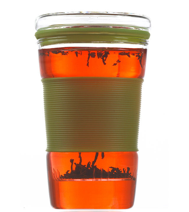 Infuser Tea Mug: Infuz - Green, 350ml/11.8 fl. oz - Package of 4
