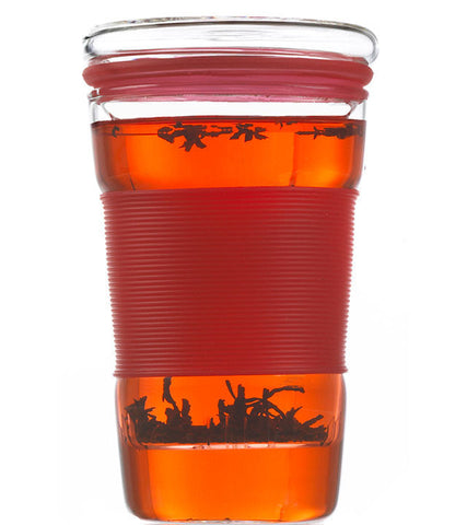 Infuser Tea Mug: Infuz - Red, 350ml/11.8 fl. oz - Package of 4