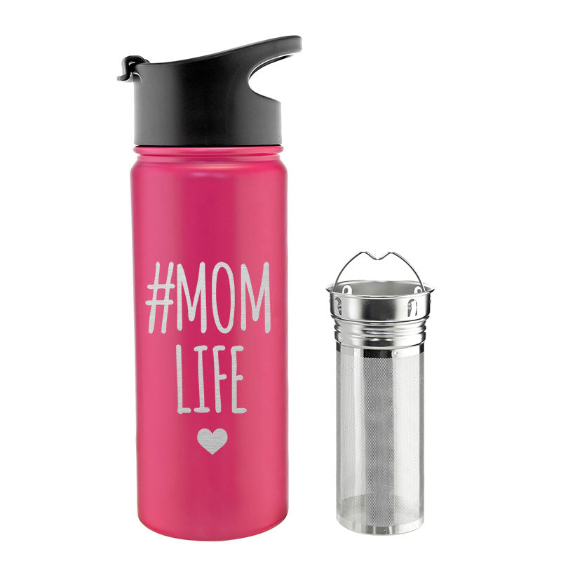 CHICAGO STEEL 16 fl. oz - #Mom Life (Custom Laser Etched) - Pack of 4