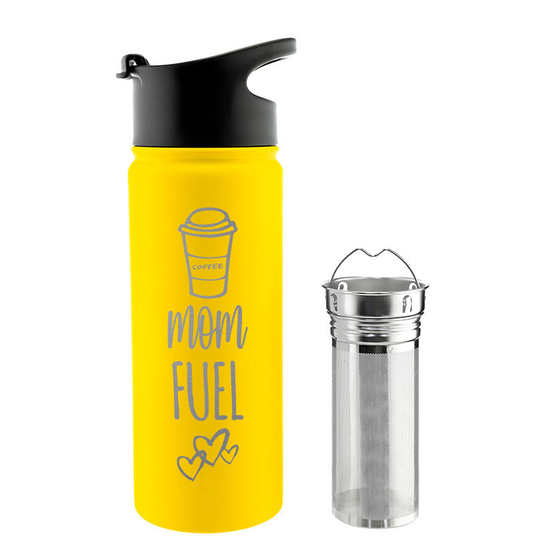 CHICAGO STEEL 16 fl. oz - Mom Fuel (Custom Laser Etched) - Pack of 4