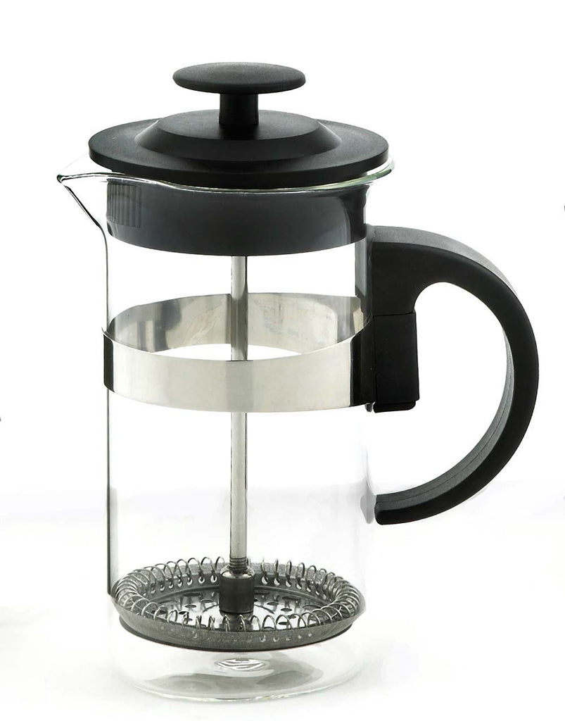 French Press & Milk Frother Set: Grosche Cafe Au Lait - Black 1000Ml/34 Fl. Oz - Package Of 4 - French Press