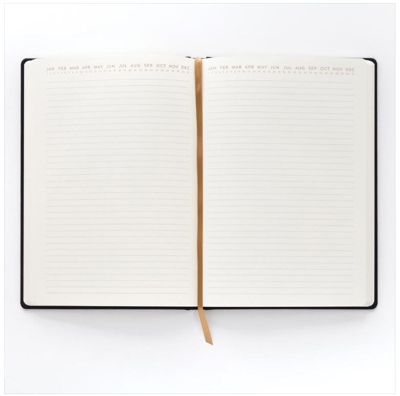 BOOKCLOTH JOURNAL LG LIVE IN THE NOW, BLK