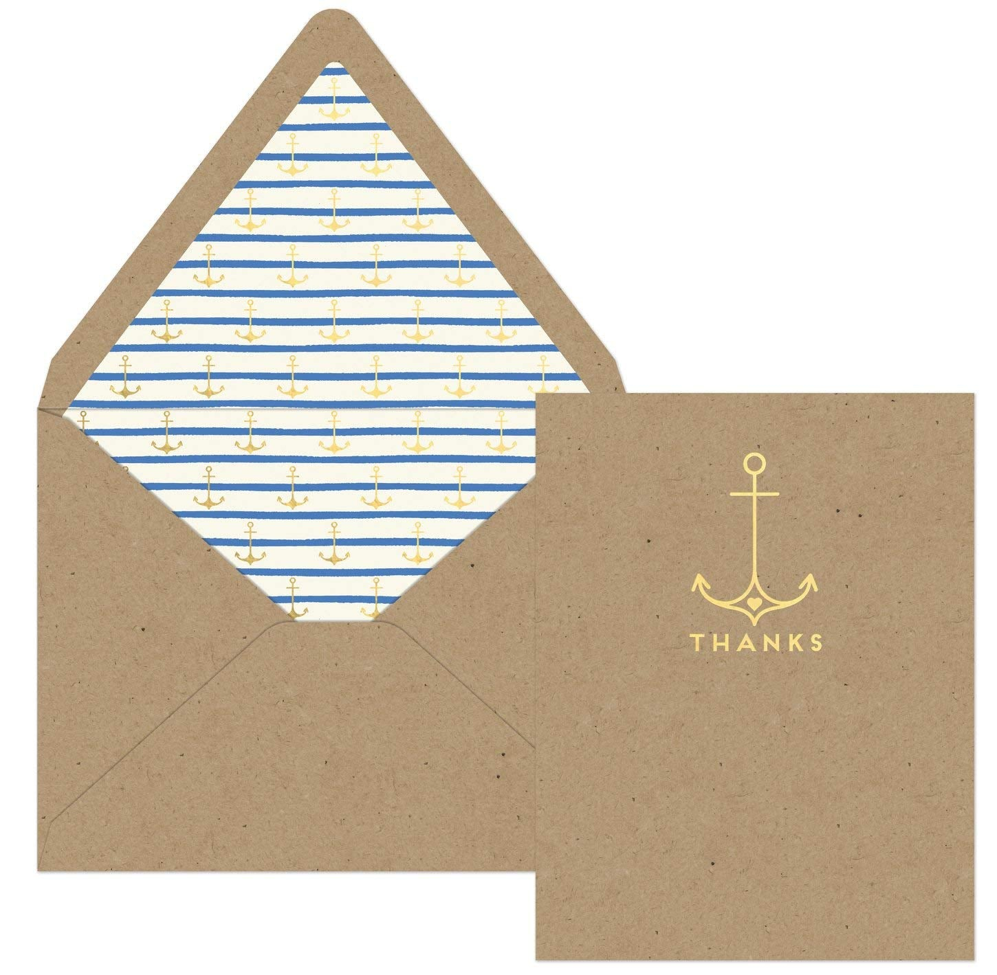KRAFT ANCHOR THANK YOU CARDS