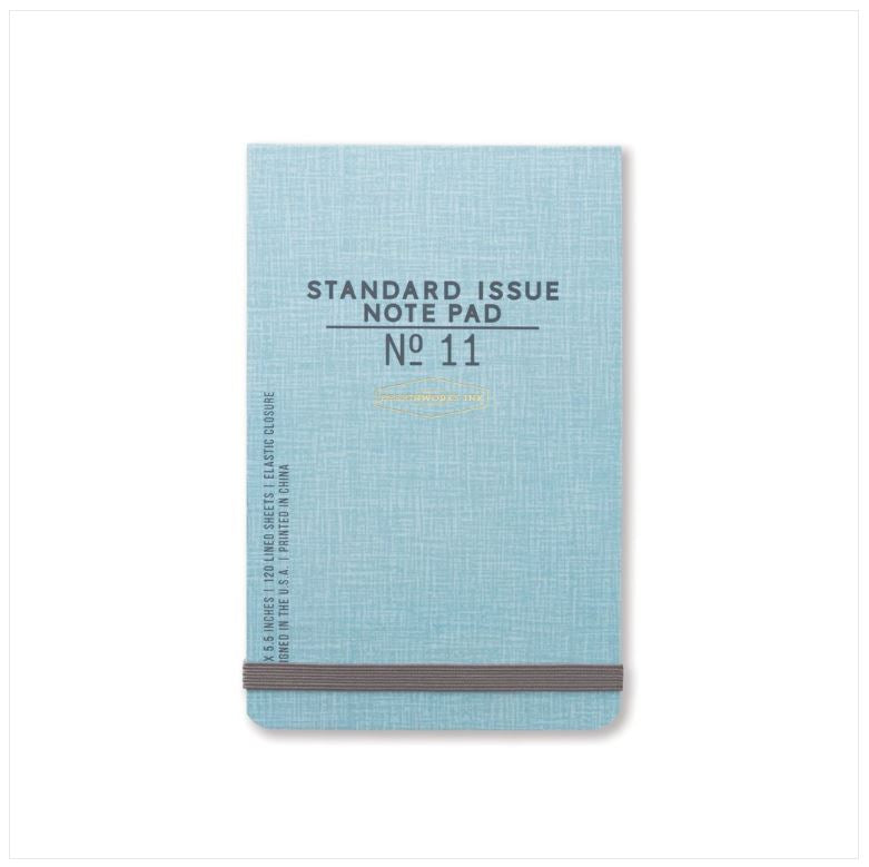 "STANDARD ISSUE - BLUE 3.5"" x 5.5"" NOTES W/ELASTIC"