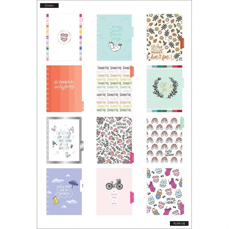 Agenda Happy Planner Clásica Vertical - All The Seasons - 18 Meses 2020-2021