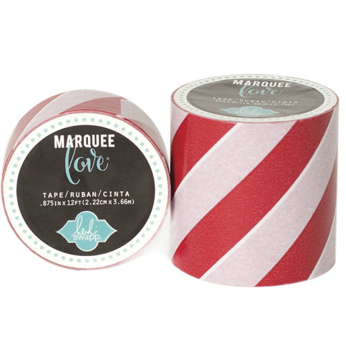Marquee Tape- HS- 7/8 Red Stri
