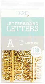 Letter Pack (188 pieces) - GOLD (1 inch)