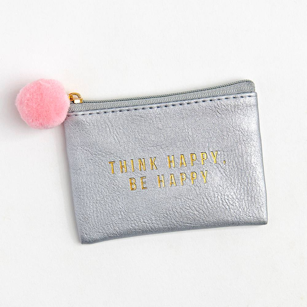 Think Happy, Be Happy Pouch