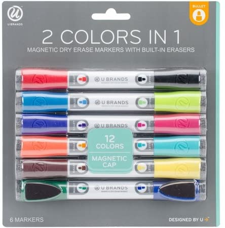 Plumones Dual Tip Dry Erase Makers Assorted Colors