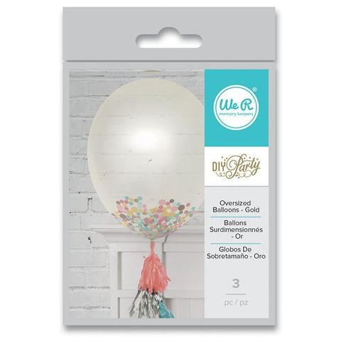 WR DIY Party Balloons Clr 3PK