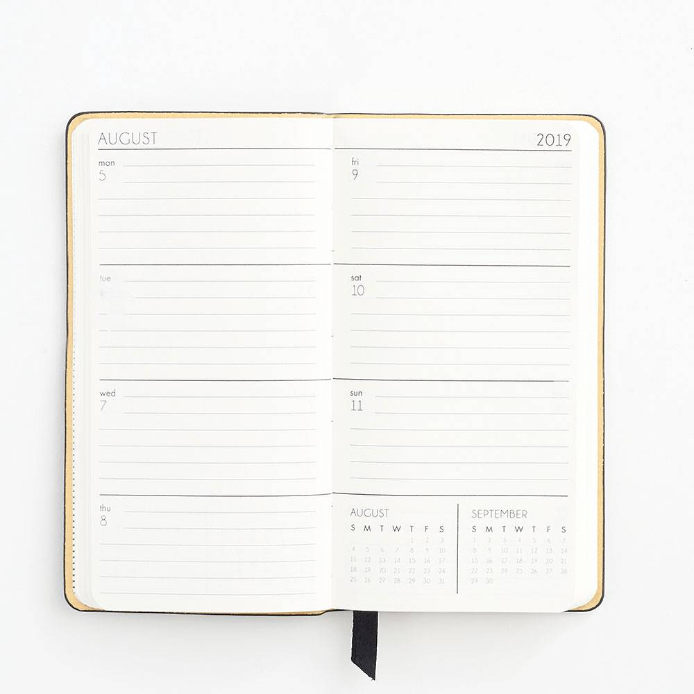 Planner Small Black 17-Month 2019-2020